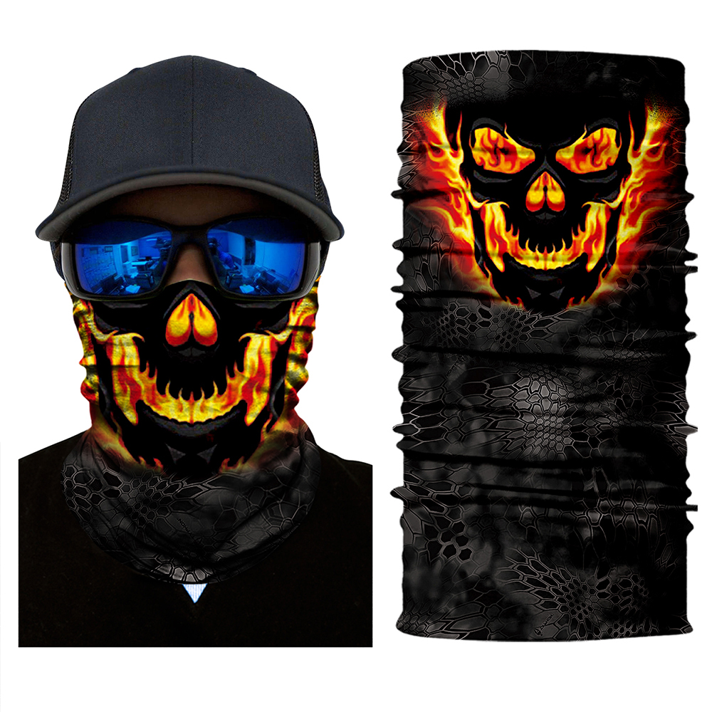 Women Men Face Shield Neck Gaiter Neckerchief Sun Mask Hunting Fishing Balaclava Scarf Headwear UV Balaclava