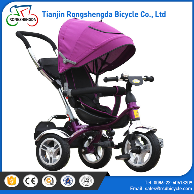 Thickened sponge cushion with best price tricycle kids/ 4 in 1 baby smart trike/best children tricycle with Luxury Metal Frame