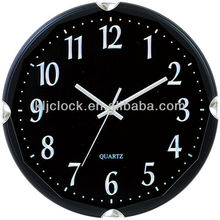 Silent Wall Clock Black Frame Clear Look