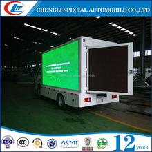 Foton billboard lifting P8 P6 screen led mobile stage truck for sale