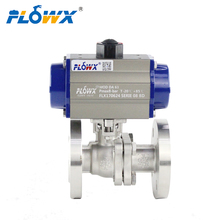 Italy 4inch 8 Inch Dn50 Pn16 SS316L CF8M Pneumatic 2pc Flanged Stainless steel Ball Valve