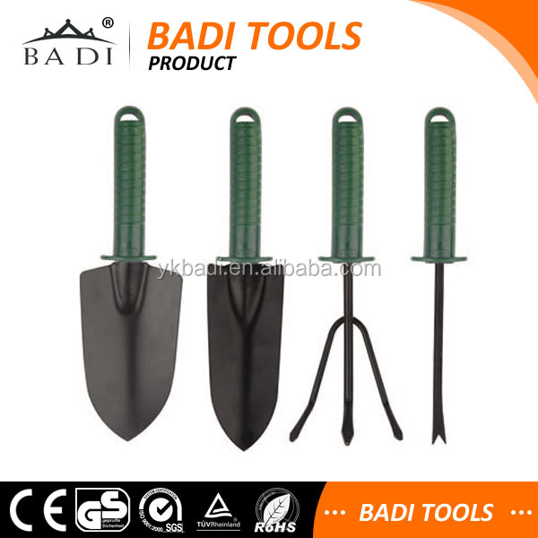 High quality china 4 piece hand garden tool set with heavy for Garden tools best quality