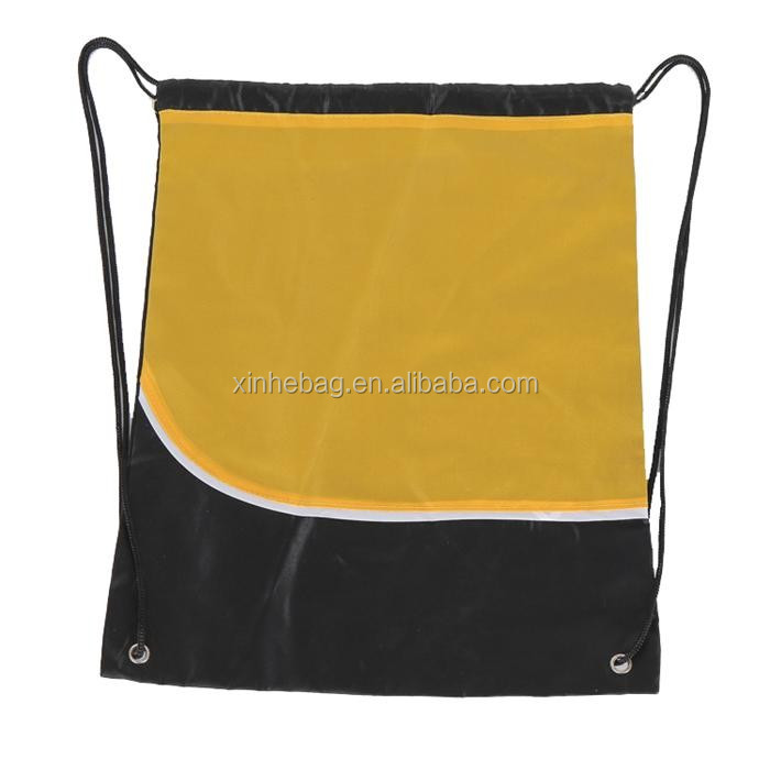Easy carrying promotional marathon polyester drawstring bag