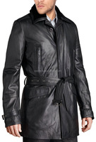 Latest Design Men High Quality Spring Fashion Leather LONG COAT Price Pakistan