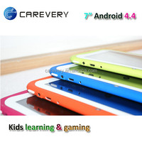 7 inch quad core tablet android 4.4 with educational games/ learning tablet pc for kids