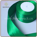100% Polyester Material And Solid Color Pattern Satin Ribbon