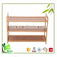 Unique home fashion personality space natural bamboo shoe rack design
