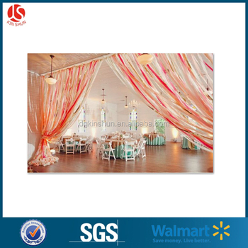 Plastic Party adornments colorful hangle tapes wedding decorations