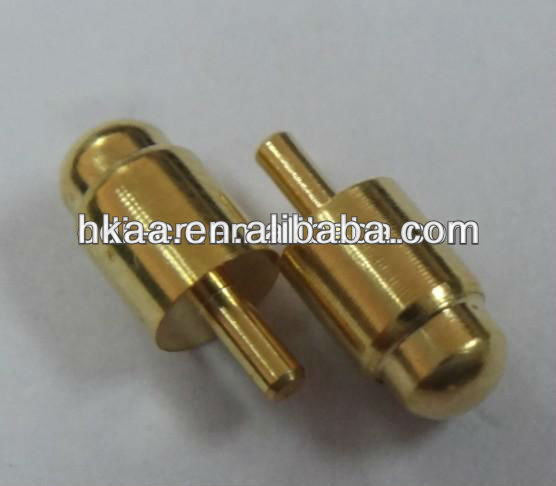 ISO gold-plated brass electric spring contact pin for battery,electric pin terminal