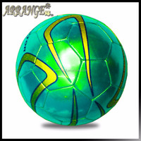 Best toys for 2016 christmas gift ball manufacturer ACFB0028P5300 turquoise metal PVC leather wholesale soccer football