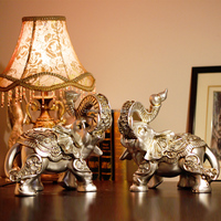 Polyresin Silver elephant statues Resin crafts elephant sculpture Resin figurine for home decor
