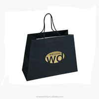custom black paper bag