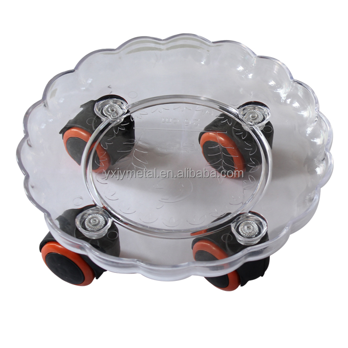 removable plastic flowerpot decorative round holder with wheels