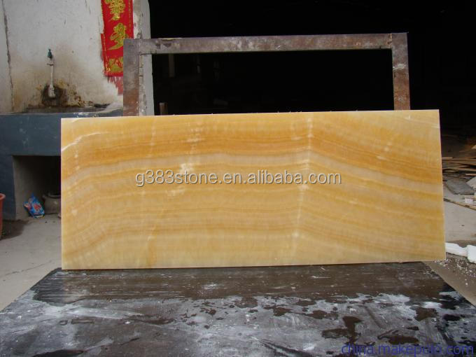 2016 hot sale China polished Yellow Honey Onyx Marble Stone Slab and Tile