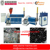 HDPE LDPE PP waste bag and film granule pelletized recycling machine with double screws two stage
