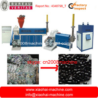 HDPE LDPE PP waste bag and film granule pelletized recycling machine with double screws two stages (main extruder + sub extrude