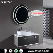 FOTO Crystal decorative edge Salon Lighted Mirror