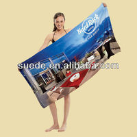new products 2013 Anti-bacterial promotion microfiber printed beach towel
