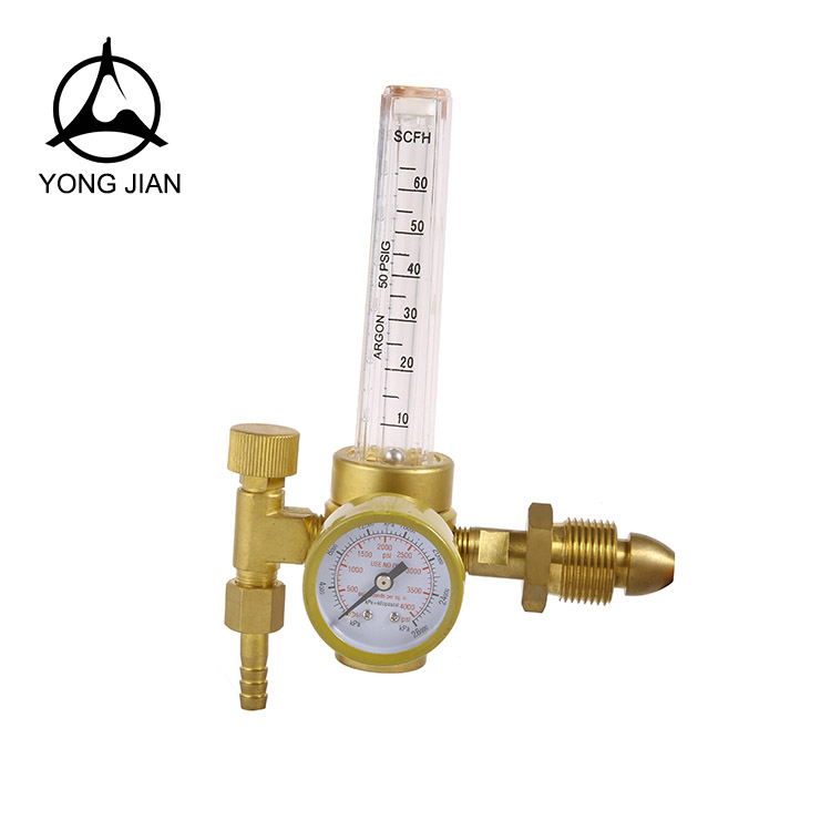 Hot Sale Made in China Brass Material with PC Flow Meter Co2/Argon Gas Pressure Regulator