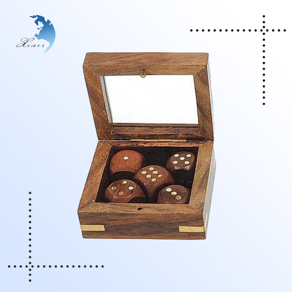 Custom engrave polyhedral rpg game wooden bulk dice wholesale
