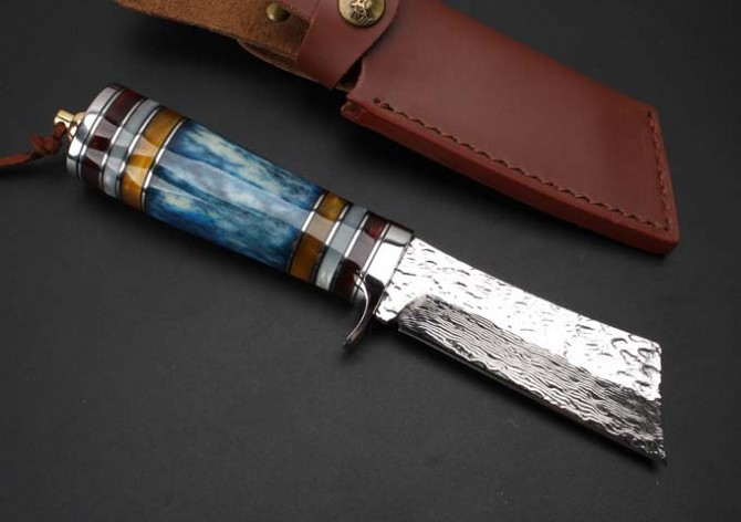 Damascus Steel Small Warrior <strong>Forge</strong> Handmade Knife
