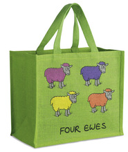MOQ 500 PCS Reinforced Printed Handle printing Tote Jute Bag factory low price