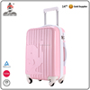 "Girls pink 20"" carry on travel high school holiday luggage suitcase case"