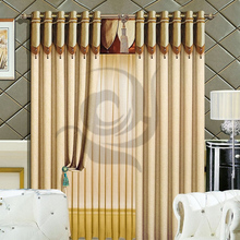 latest window designs keqiao curtain factory good quality linen blackout curtain