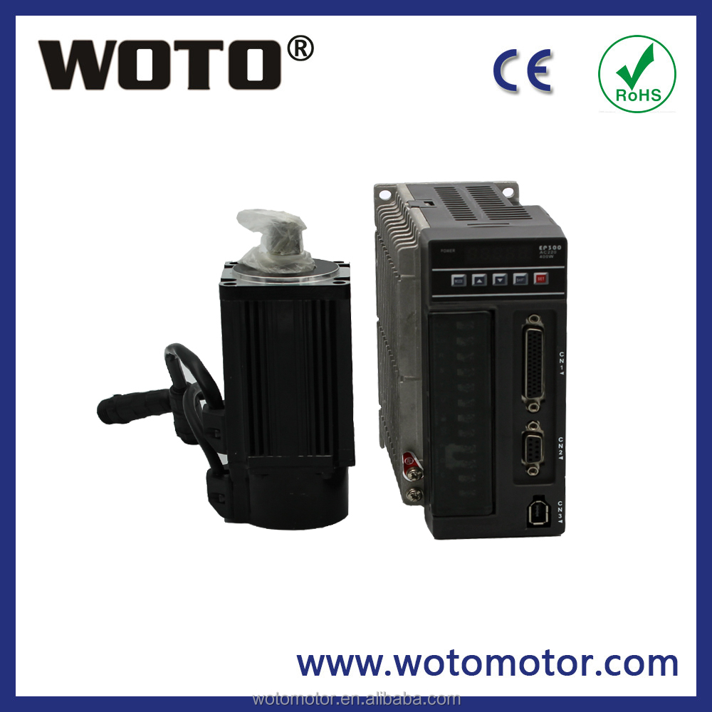 WOTO High quality 200W 0.2KW ac electric servo motor with driver gear motor