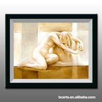 High Quality Nude Girl Oil Painting of Girl Sexy Image,Abstract Wall Decor Beautiful Nude girl Picture,
