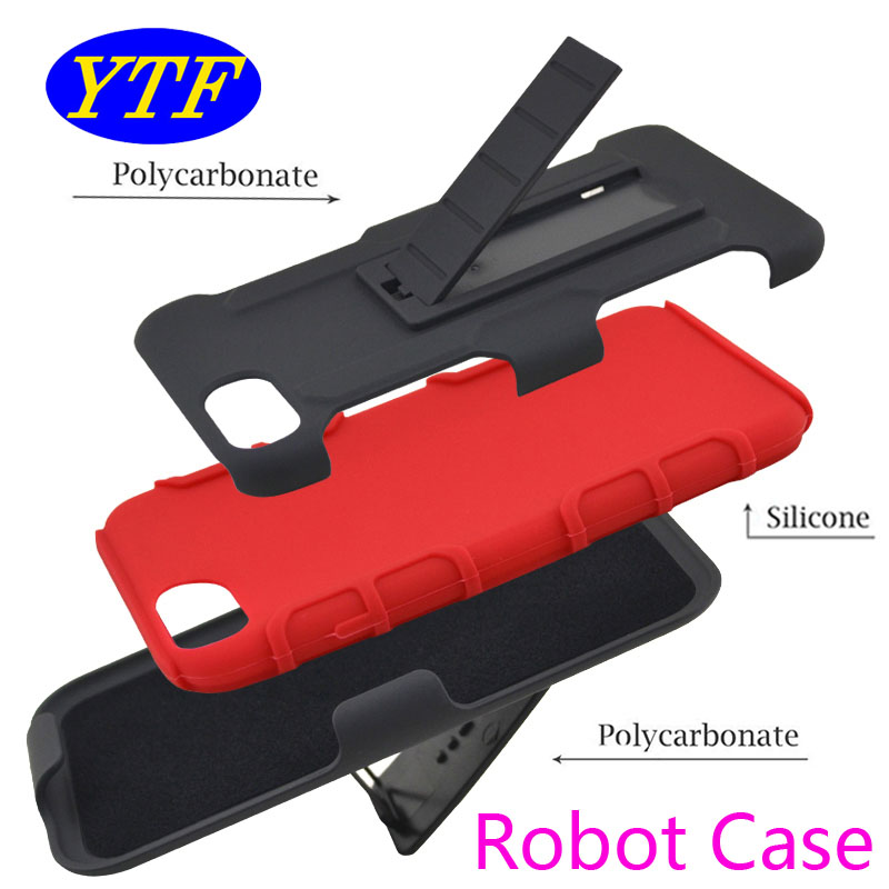 3 in 1 Robot Combo cover Belt Clip <strong>protective</strong> holster combo case for LG LV3 5.0' MS210