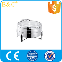 Round hydraulic glass cover advanced food furnace