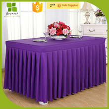 New design different styles of table skirting OEM