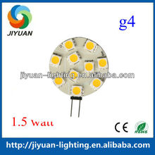 Shenzhen manufacturer warm white g4 12v 1.5w led bulb