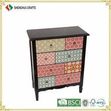 decorate solid wooden curio cabinet