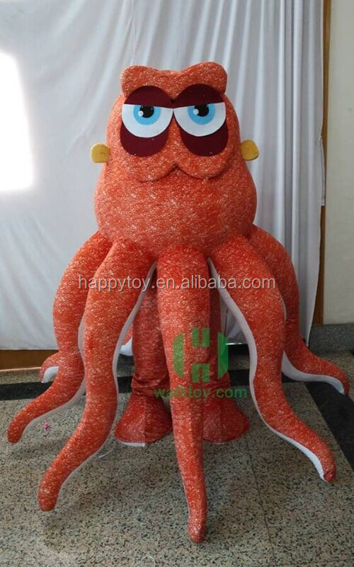 HI customied animal costume , Octopus mascots crazy animal plush toys