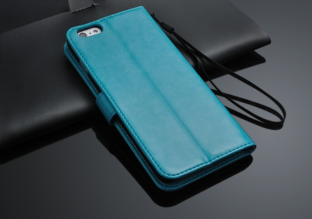 Wallet Flip PU Leather Cover 5.5inch for iphone 6 plus