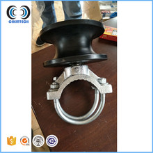 Galvanized cantilever gate roller with nylon wheel for chain link gate