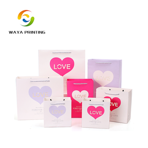 Decorative heart-shaped sugar packaging colorful paper bag