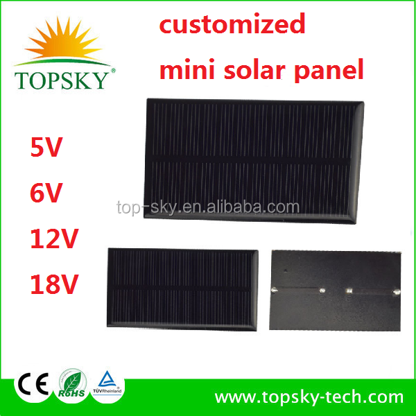 Custom made any sizes small solar panel 5V 1W 3W 5W mini epoxy solar panel/solar cells for led light 12V Epoxy resin solar panel