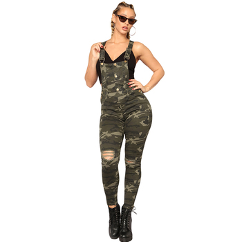 Stake Out Camo Bib Sexy Overalls Women Denim Overalls