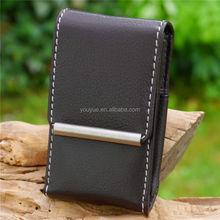 High Quality Magnetic Leather Single Cigarette Case