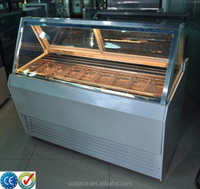 Single row used commercial ice cream display freezers for sale