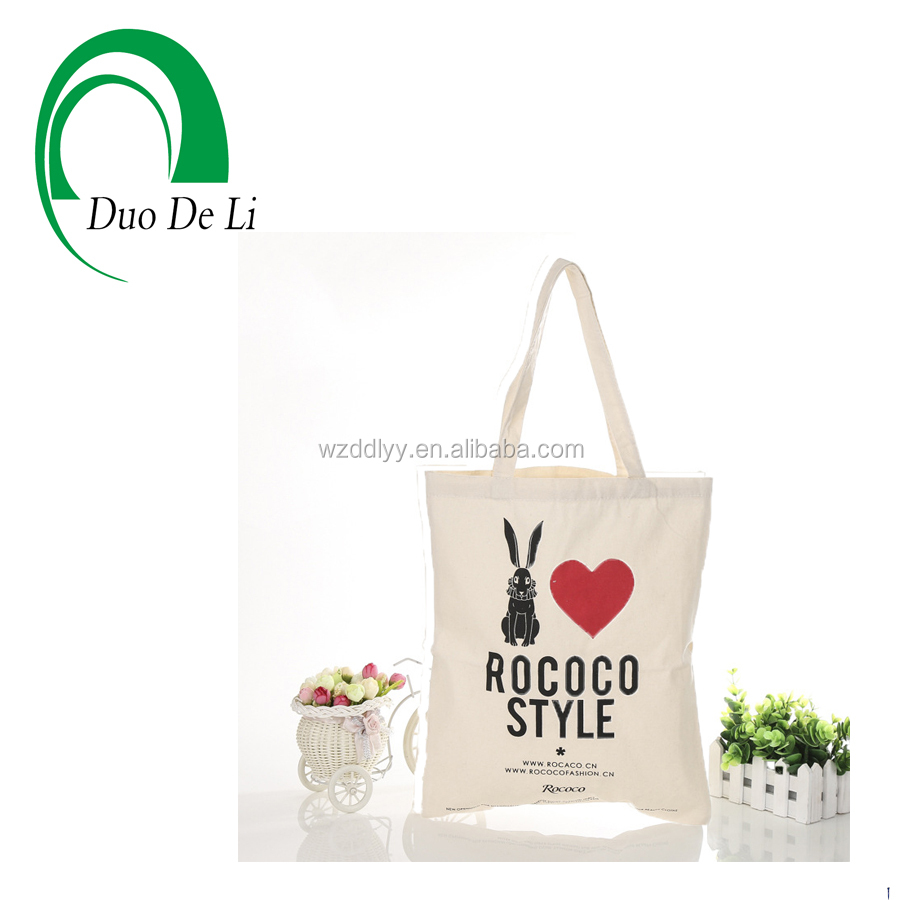 Top Quality Eco friendly Screen Printed Canvas travel bag for garment