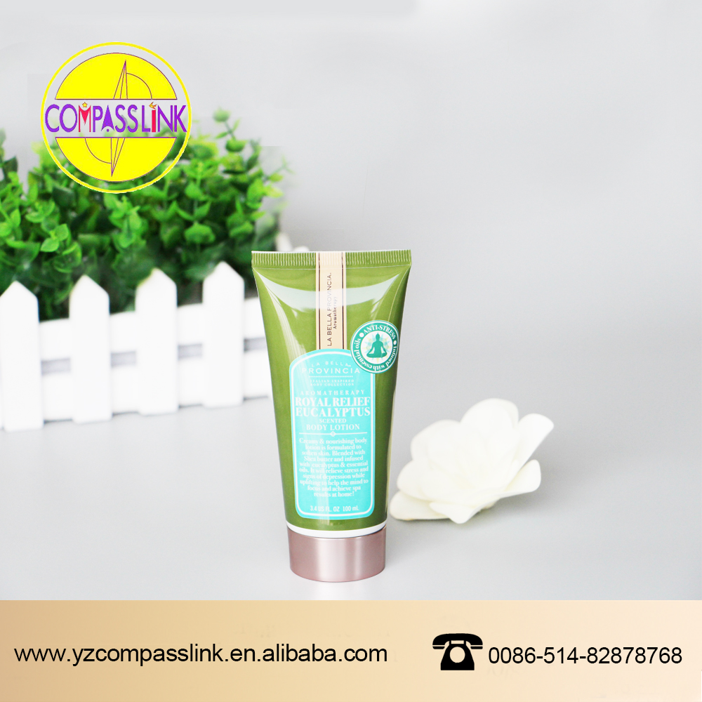 clear bpa free laminated cosmetic plastic packaging massage tube