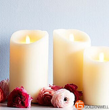 Eco-friendly manufacturer wax led candle light ,luminara moving wick flameless candle
