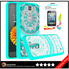 Scratch Resistant Acrylic Hard Cover With Rubber TPU Bumper Hybrid Ultra Slim phone case for LG K7