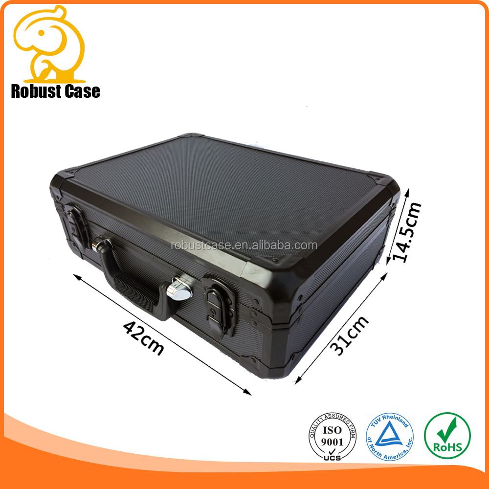 Factory price aluminum briefcase hard case with customized foam