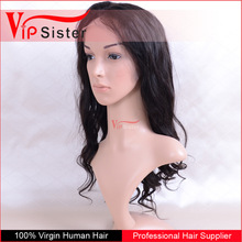 100% virgin no acid hair color 1b natural wave raw hair 1b vrigin human hair wig