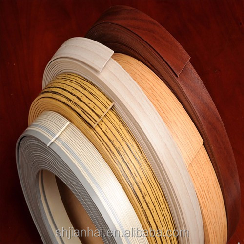0.3mm-4mm Pre-glued Melamine Edge Banding for home furniture